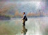 Fly fishing fog