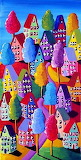 #Colorful Houses Trees Renie Britenbucher