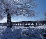 Il Parco degli acquedotti sotto la neve