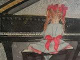 Jon Berg, Young girl at the piano, detail
