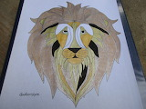 For Nora11 Lion Drawing by dankenstyne