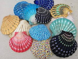 Decorated Scallop Shells