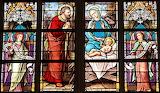 Church-window-stained glass-angels-Jesus-Mary-Joseph