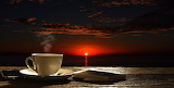 Coffee at sunset