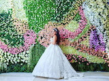 Bride and Flower Wall