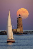 Sail by the lighthouse