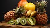 Frukty-ananas-kivi