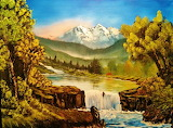 #Mountain Painting by Bob Ross