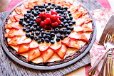 #Red White and Blue Pizza Brownies