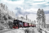 Train  en  hiver