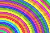 Rainbow of many colours