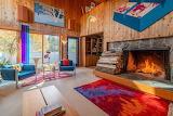 Colorful Wood Paneled Room