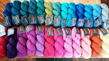 Colorful Hanks of Yarn