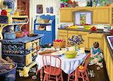 In cucina con il gatto
