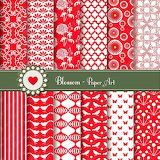 Red Designs Wrapping Paper