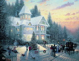Christmas Open House~ Thomas Kinkade