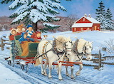Family Sleigh Ride by John Sloane...