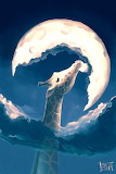 Giraffe eats the Moon