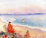 Henri Lebasque, la plage, 1921