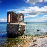 Old Lighthouse Ruin. Kap Ankona, Rugen Island