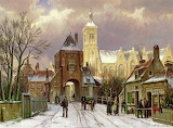 Winter Scene in Amsterdam~ Willem Koekkoek