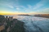 Sunrise Blue Mountains Australia Three Sisters