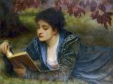 Charles Edward Perugini, Girl reading, 1870