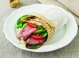 ^ Roast Beef, Avocado & Lettuce Wrap