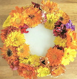 Rotate the edible flowers @ Craftsy