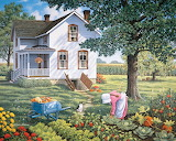 In the garden of a country home - John Sloane