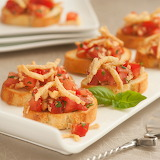 ^ Crunchy Onion Bruschetta