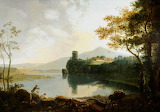 Dolbadern Castle and Llanberis Lake Attributed to Richard Wilson