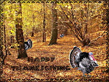 Turkeys Hiding in the Woods