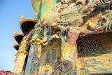 Facade Wat Ban Rai Elephant Temple Thailand