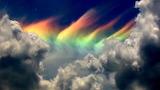 A fire rainbow