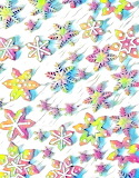 Colorful snowflakes @ A Cozy Kitchen