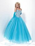 Blue Sweetheart Prom Dress
