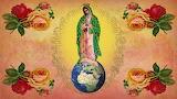 Virgin Mary-globe-flowers-religion