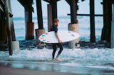 Surfer at Pier