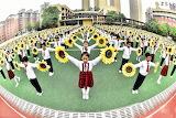 Sunflower dance in Hefei/China