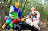 Garden of art-statues-artist Niki de Saint Phalle