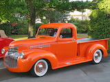 Chevrolet pickup orange