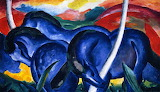 Franz Marc 1911 Abstract, Large Blue Horses