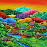 Naive art landscape