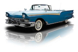 1957 Ford Fairlane 500 blue white