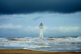 Storm Clouds Over Perch Rock Lighthouse New Brighton England