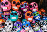 Colourful skulls