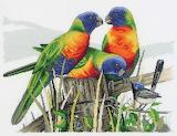 Cross stitch birds.....................................x
