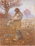 A Shepherd with a Lamb, 1883, George Clausen