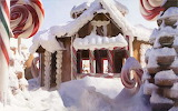 Candy cane village